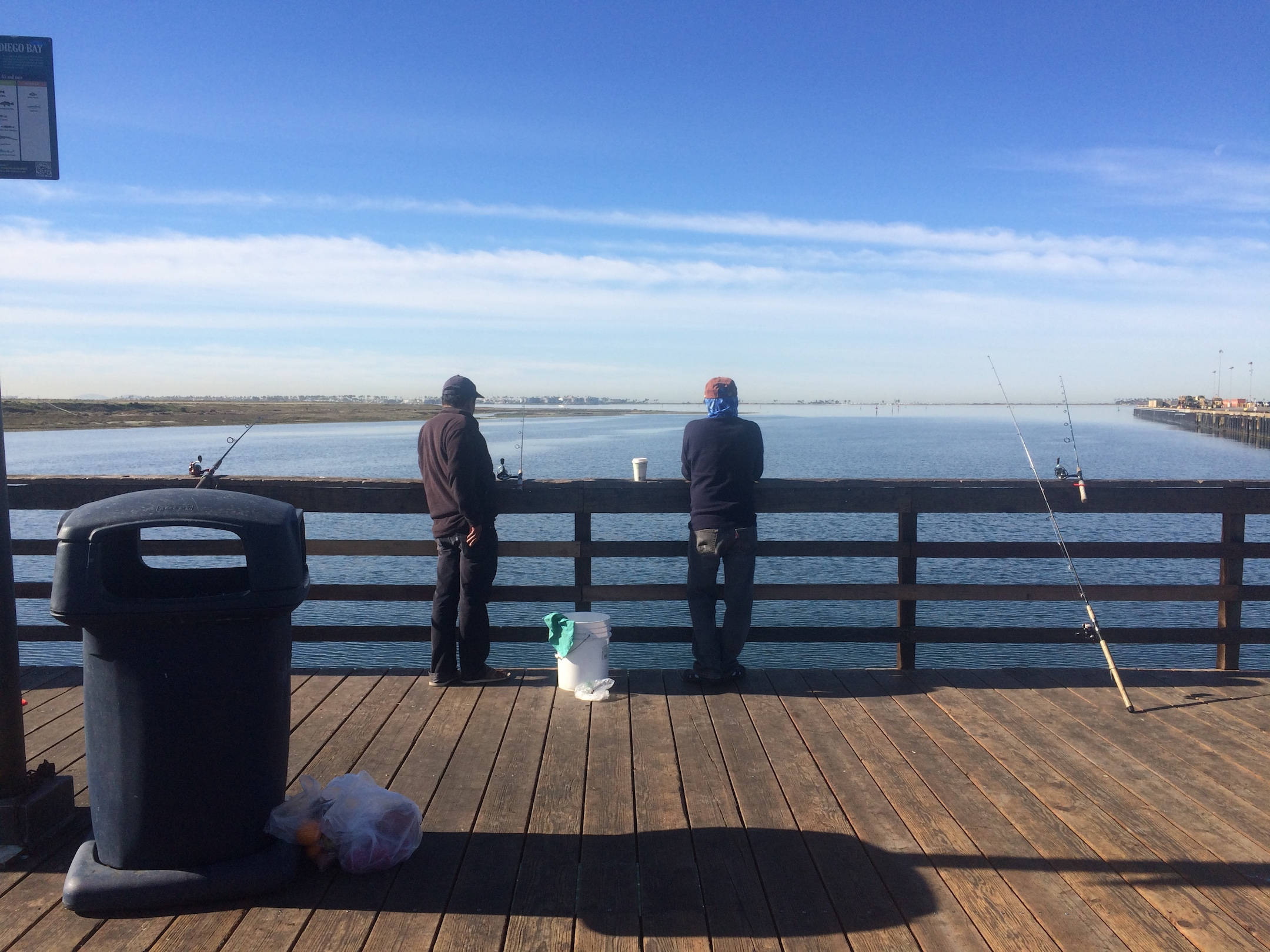 Pepper Park pier on a Saturday morning in January. Photo taken by Nina Venuti.
