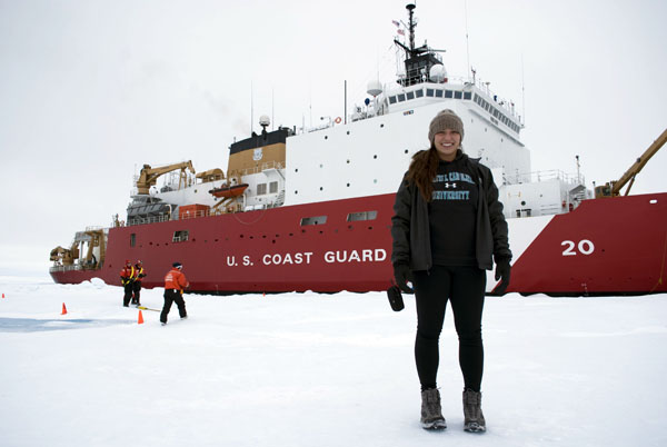 Shannon Klotsko on another oceanographic cruise.