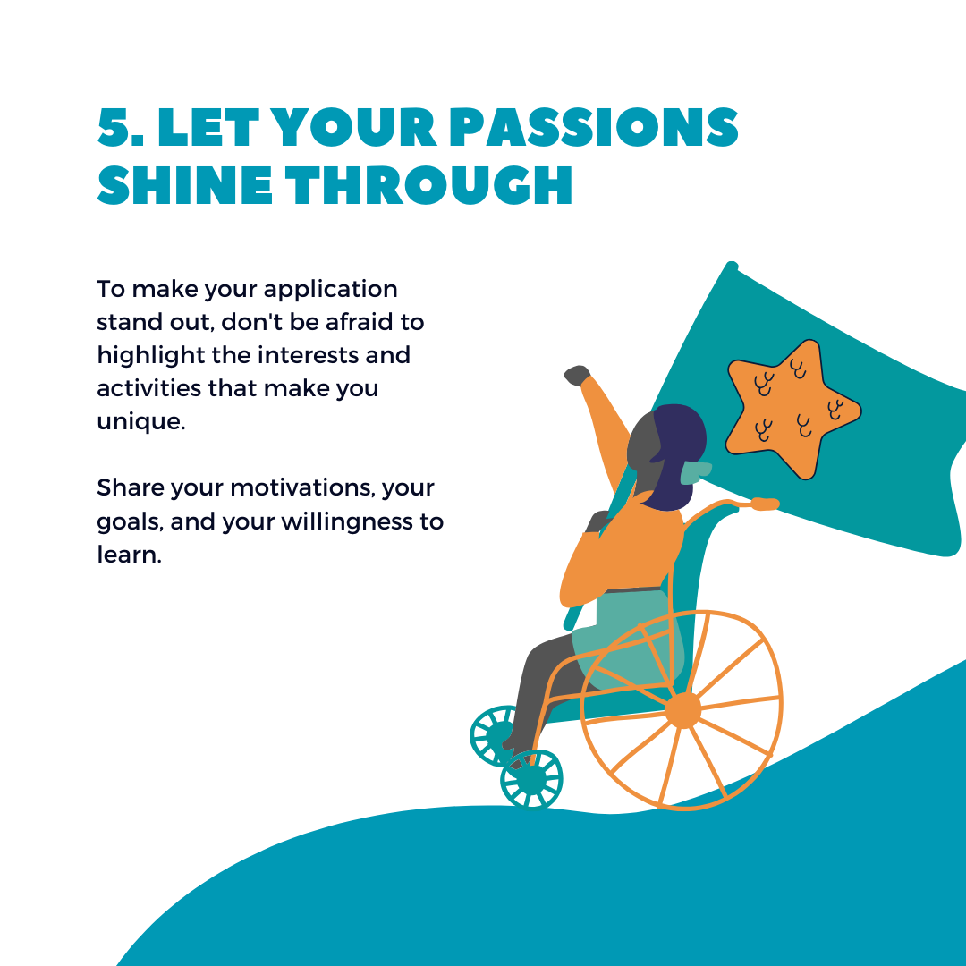 let your passions shine through