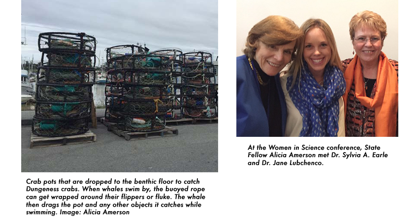 Alicia Amerson pictured with Dr. Sylvia A. Earle and Dr. Jane Lubchenco