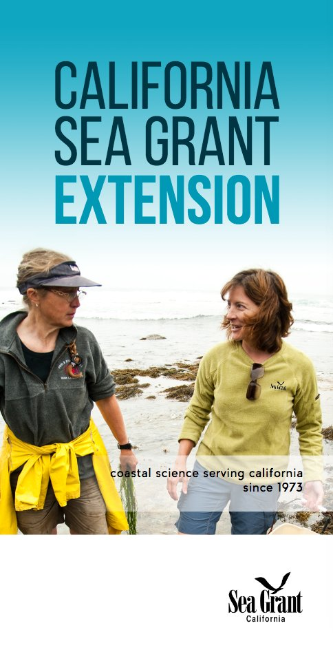 California Sea Grant Extension Program brochure cover