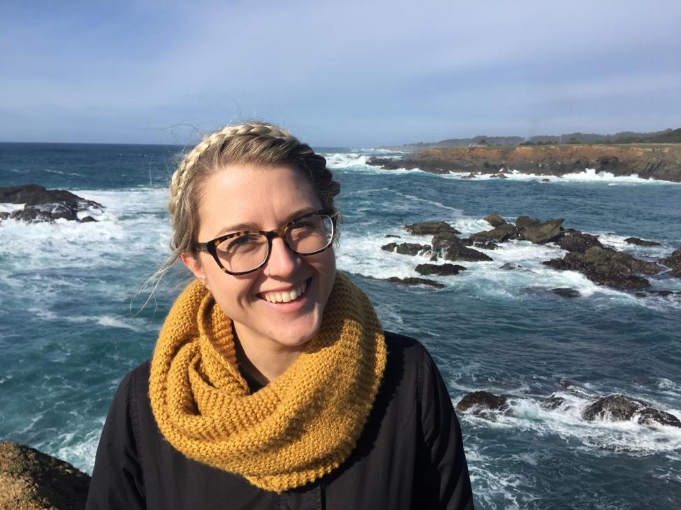 2014 California Sea Grant Fellow, Evyan Sloane. Photo courtesy of Evyan Sloane.