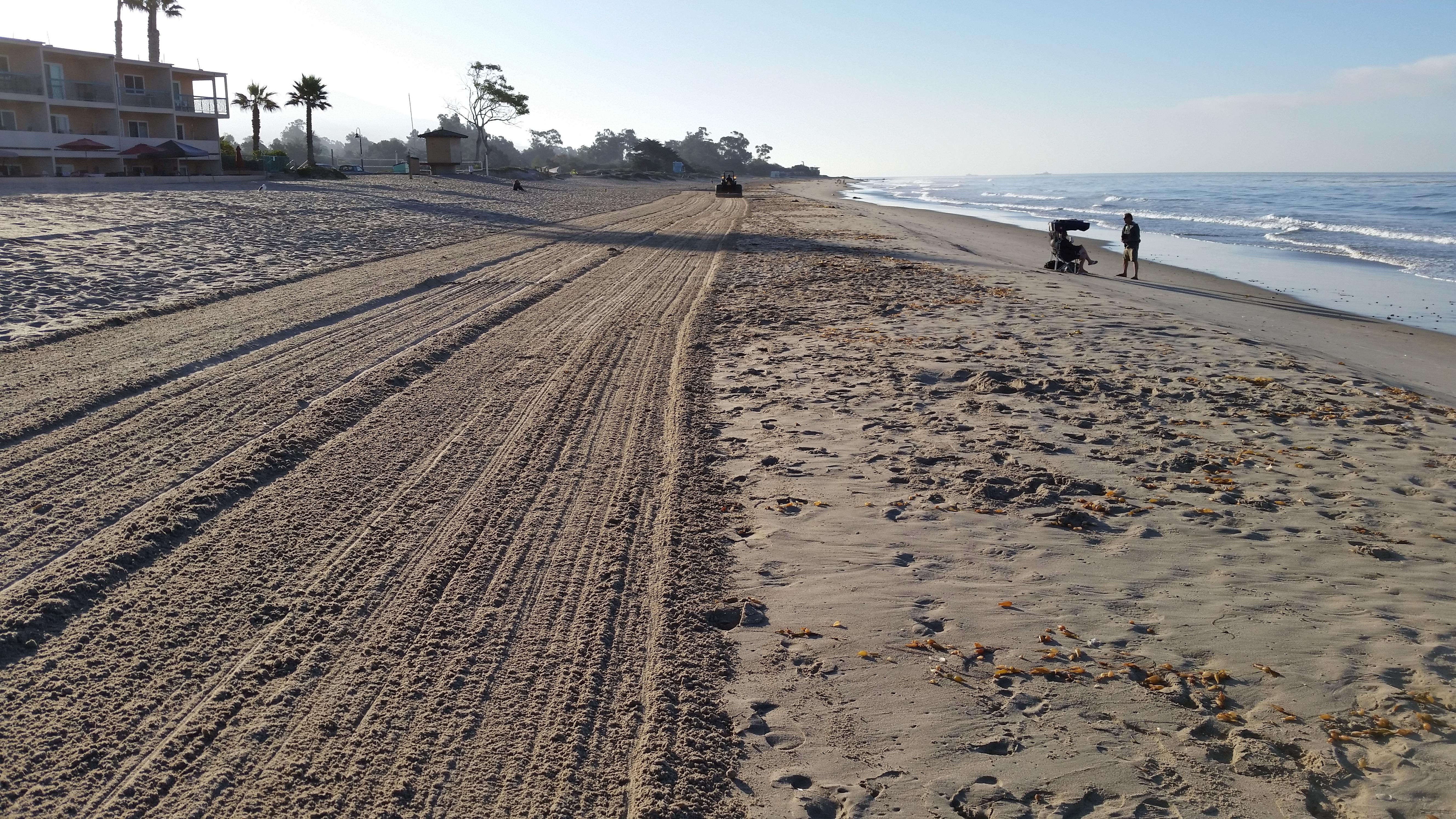 Carpinteria beach, groomed