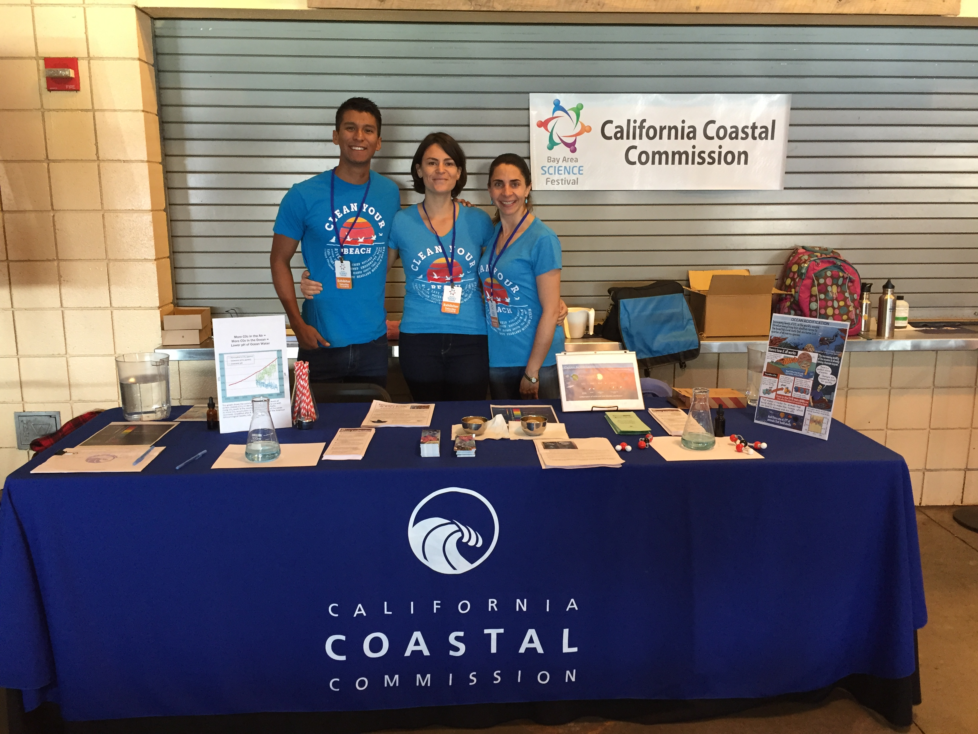 Coastal Commission staff at a Bay Area Science Festival. Courtesy photo