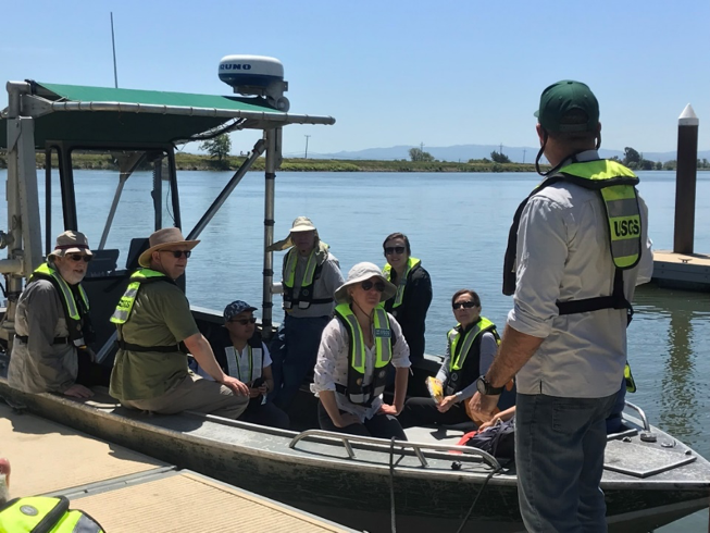 A boat tour of the central delta that I took with the ISB in June. Seeing the delta in-person helps inform decision making and gives a better background on the system. Image: Bonnie Dickson