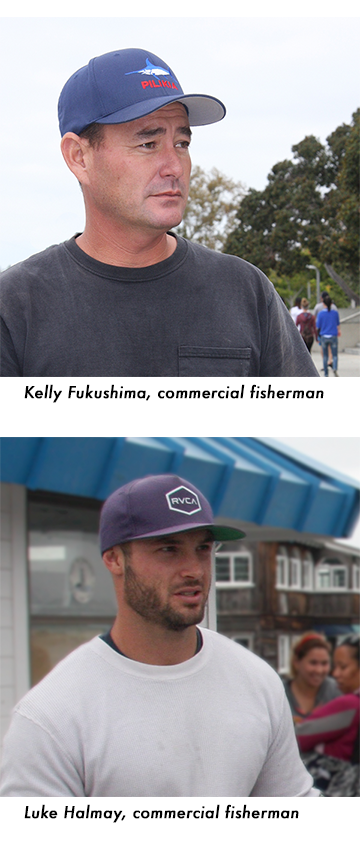 kelly fukushima and luke halmay, commercial fishermen