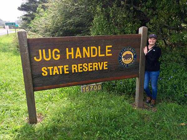 State Fellow Madeline Kinsey at Jug Handle State Reserve