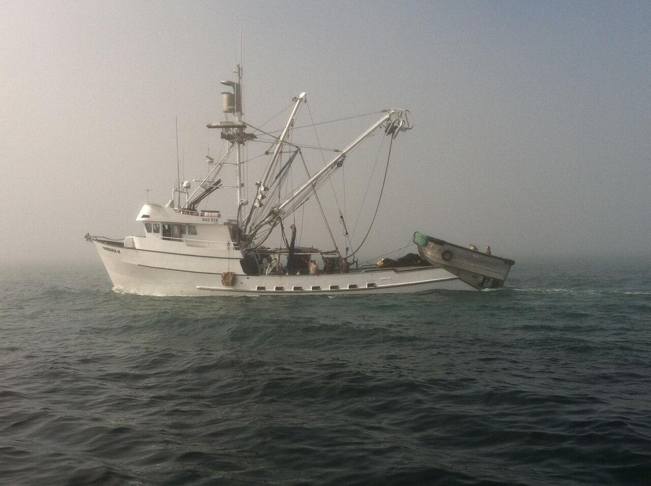 trawling fishing vessel