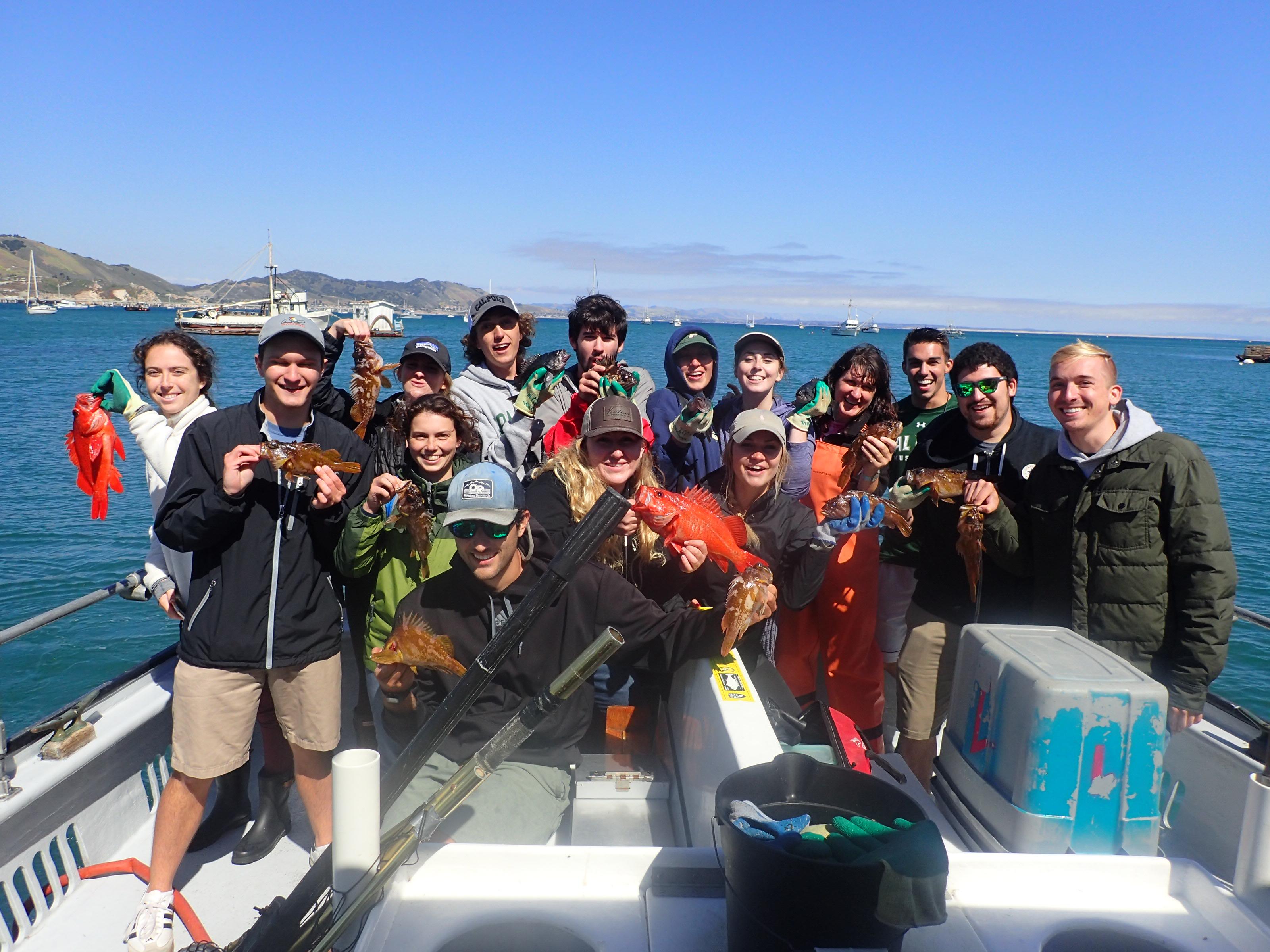 Class photo after MPA monitoring trip. Photo credit: Jennifer O'Leary
