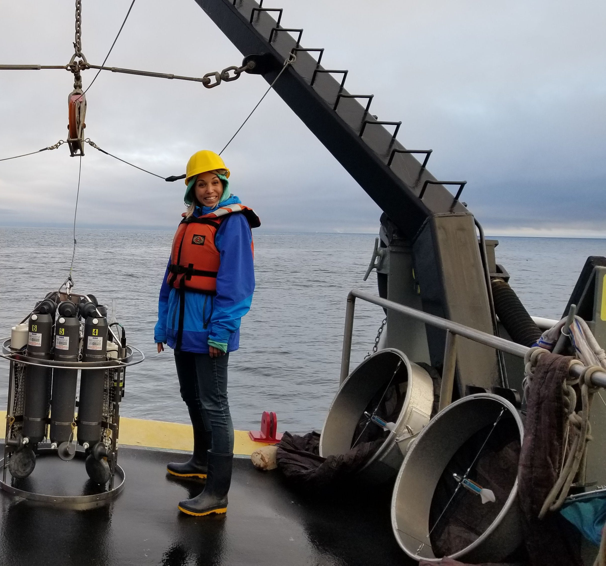 Oceanographic sampling on Humboldt State University's R/V Coral Sea.