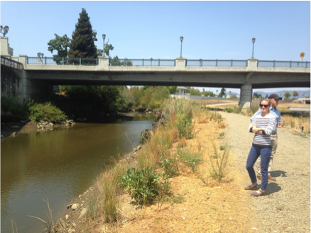 Perry makes a site visit to Napa's Dry Bypass Innovative Flood Control , August 2015 (Photo: Pascale Soumoy, BCDC)