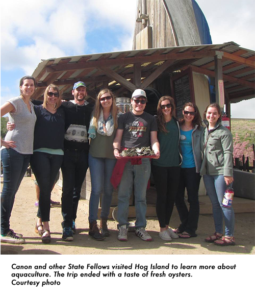 State Fellows visit the Hog Island Oyster company