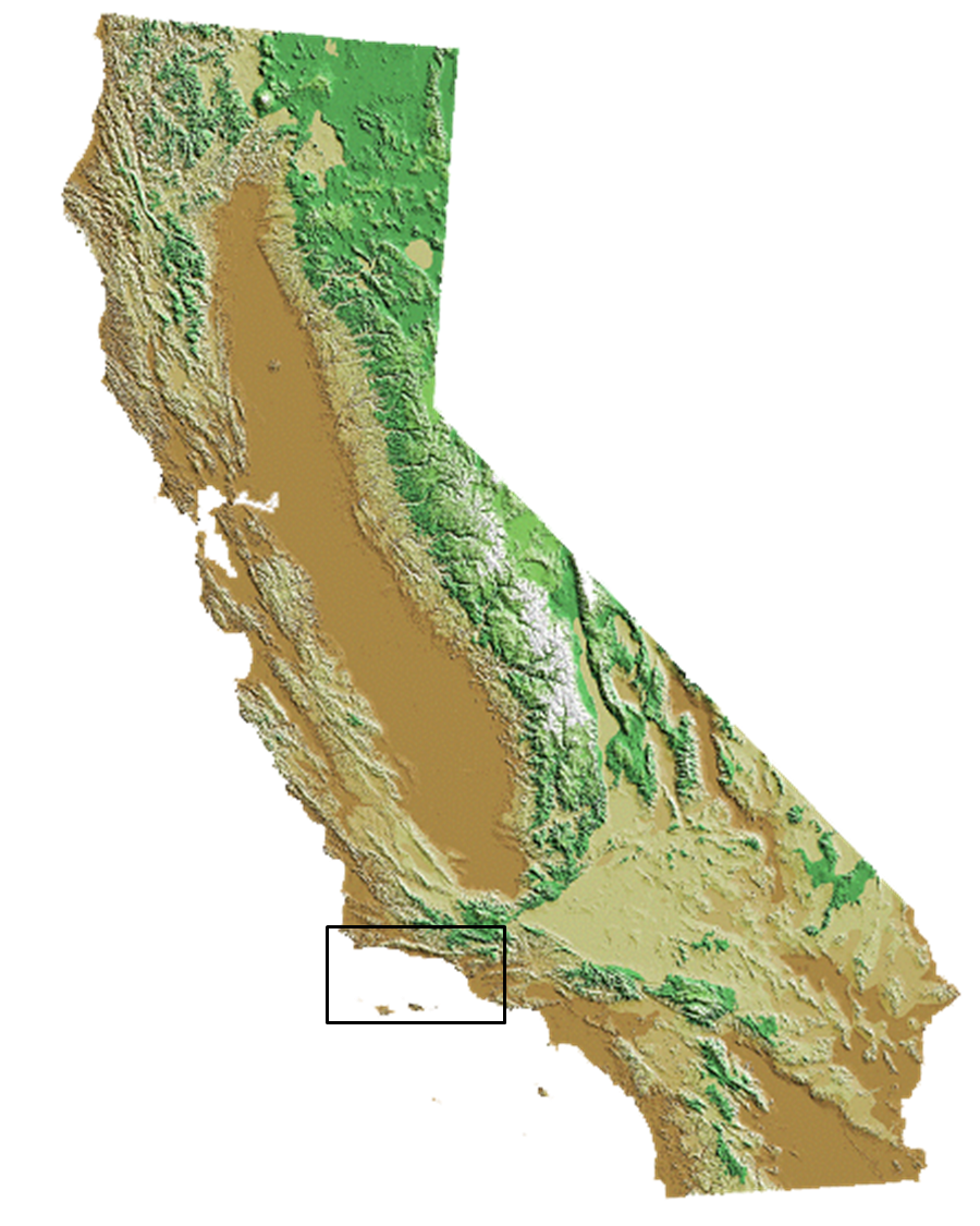 map showing santa barbara channel region