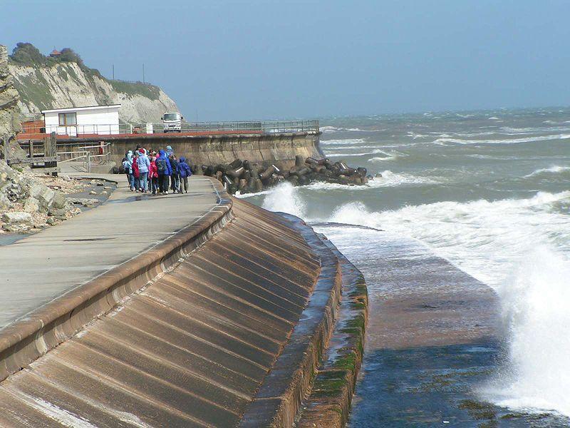 Seawalls in Ventura, CA. Credit: Surfrider Foundation