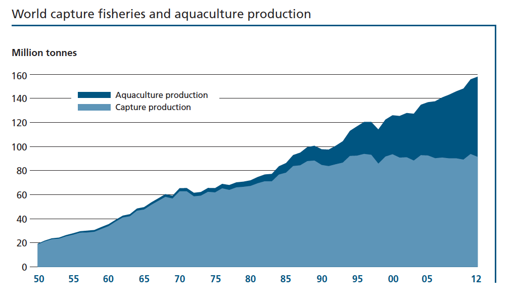 Image from The State of World Fisheries and Aquaculture, Food and Agriculture of the United Nations
