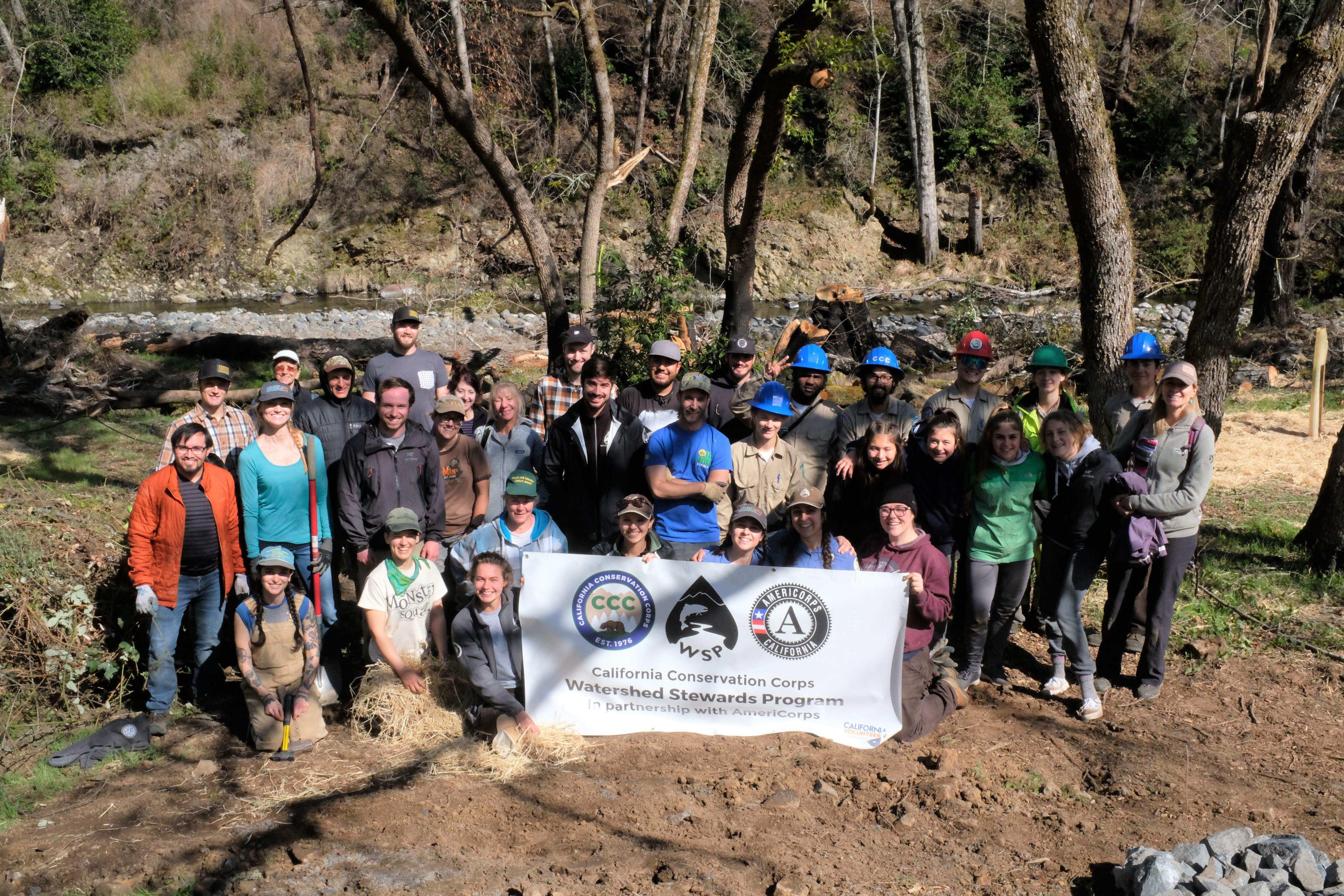 Group Photo - California Conservation Corps Watershed Stewards Program