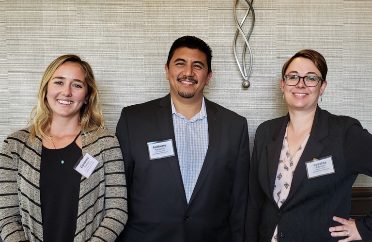 CA Sea Grant state fellow Cori Flannery, Senior Engineer Anthony Navasero, and the Council's Executive Director Jessica Pearson at the California Water Policy Conference in San Diego, CA.