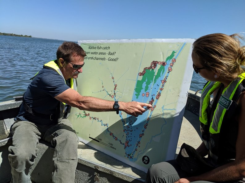 Staff from the Delta Stewardship Council take a break from the office and get out in the Delta to learn about restoration efforts in the Cache Slough Complex.