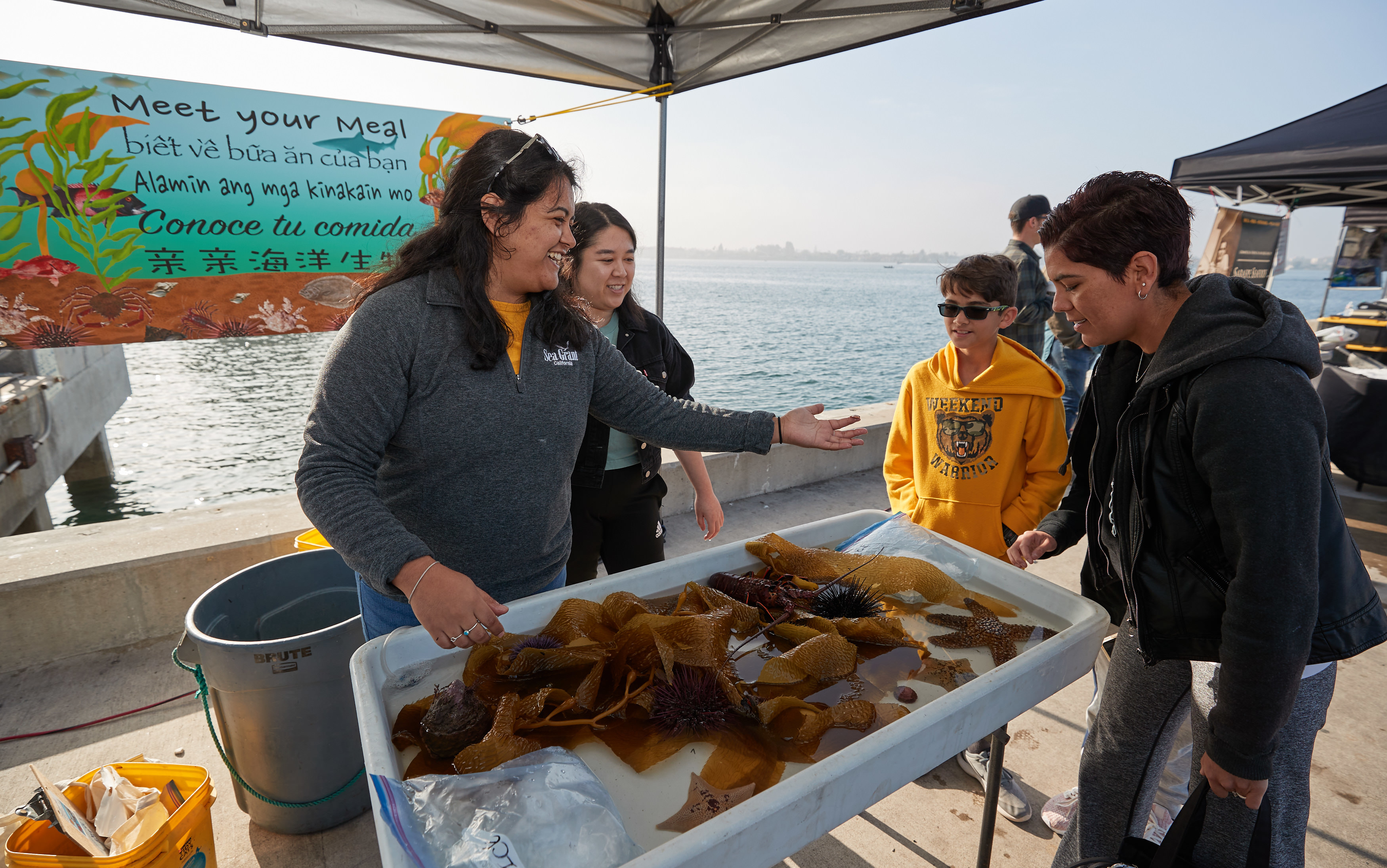 January 2020 California Commercial Fishing Apprenticeship participants visit San Diego's Tuna Harbor Dockside Market. Photo credit: Fred Greaves
