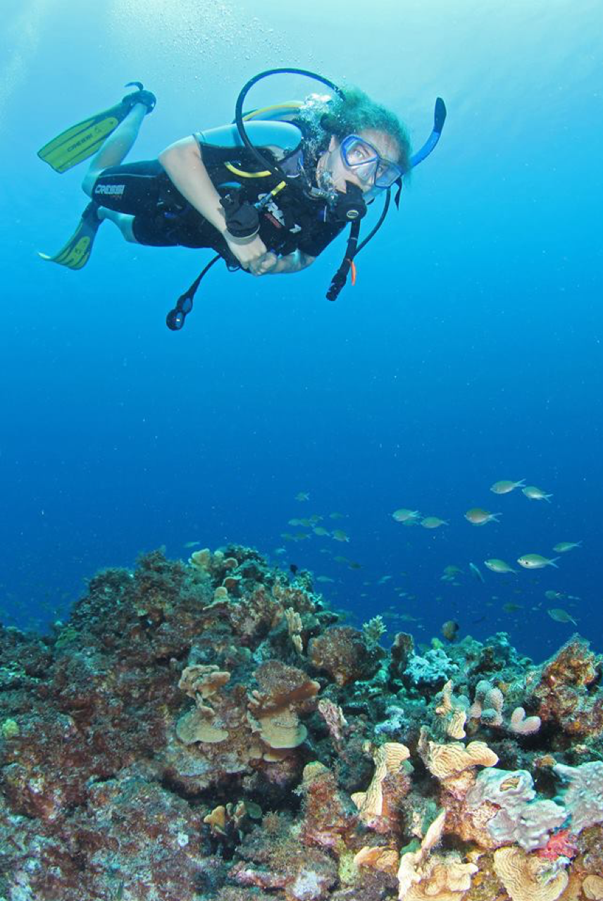 Me scuba diving in Curacao