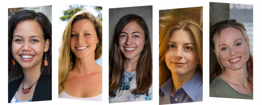 photo collage showing the five new fellows