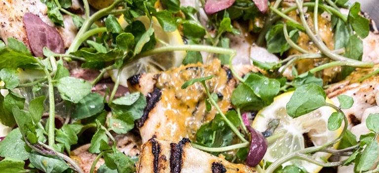 yummy fish and salad