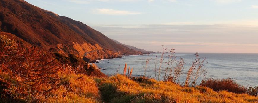 Rolling hills of Big Sur coastline