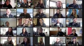 Screenshot of a fellowship zoom meeting