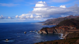 view of the California coastline