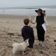 Volunteers measure beach profiles as part of a citizen science project to monitor how Santa Barbara area beaches are changing.