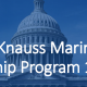picture of capitol building with text: John A. Knauss Marine Policy Fellowship Program 101