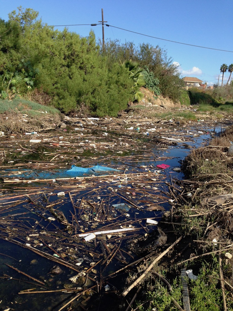 trash in chollas creek